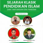 (Info) WEBINAR SEJARAH KLASIK PENDIDIKAN ISLAM DI INDONESIA